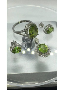 SET CU SPHENE SI DIAMANTE NATURALE
